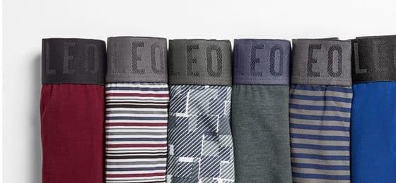 Variedad de ropa interior para hombre