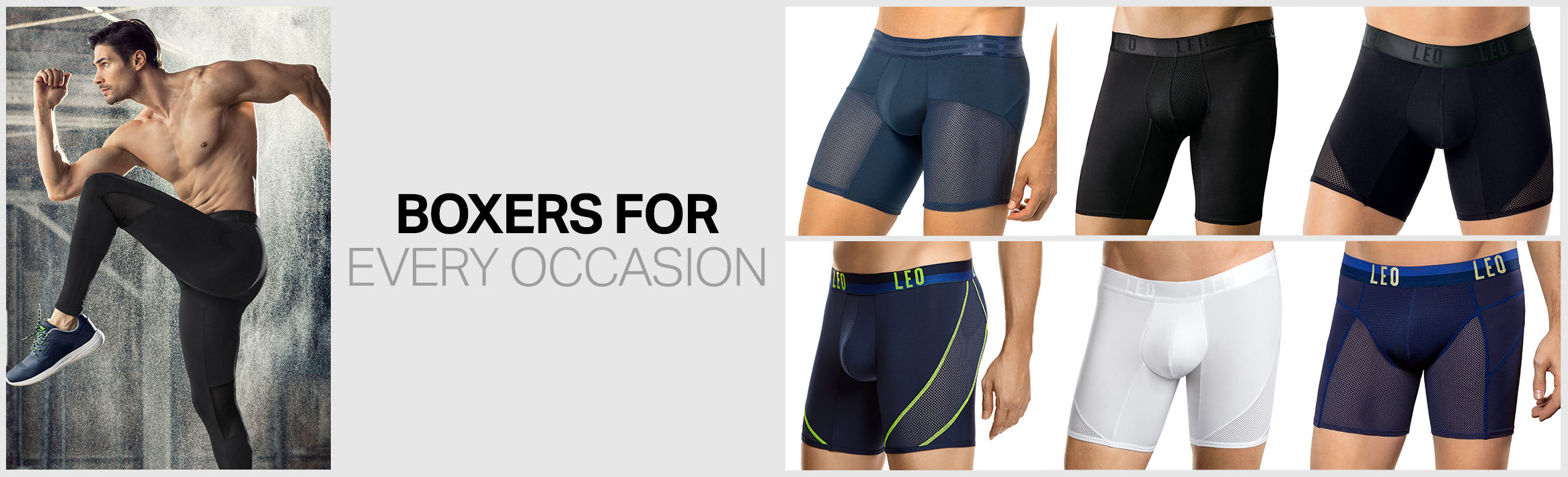 All-Occasion Boxers and Activewear