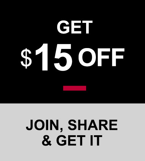 Get $15OFF Invite your friends