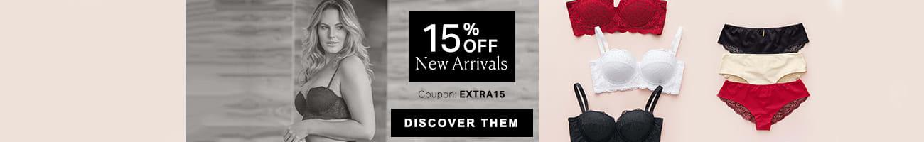 15% OFF New Arrivals