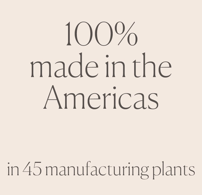 100% made in the Americas
