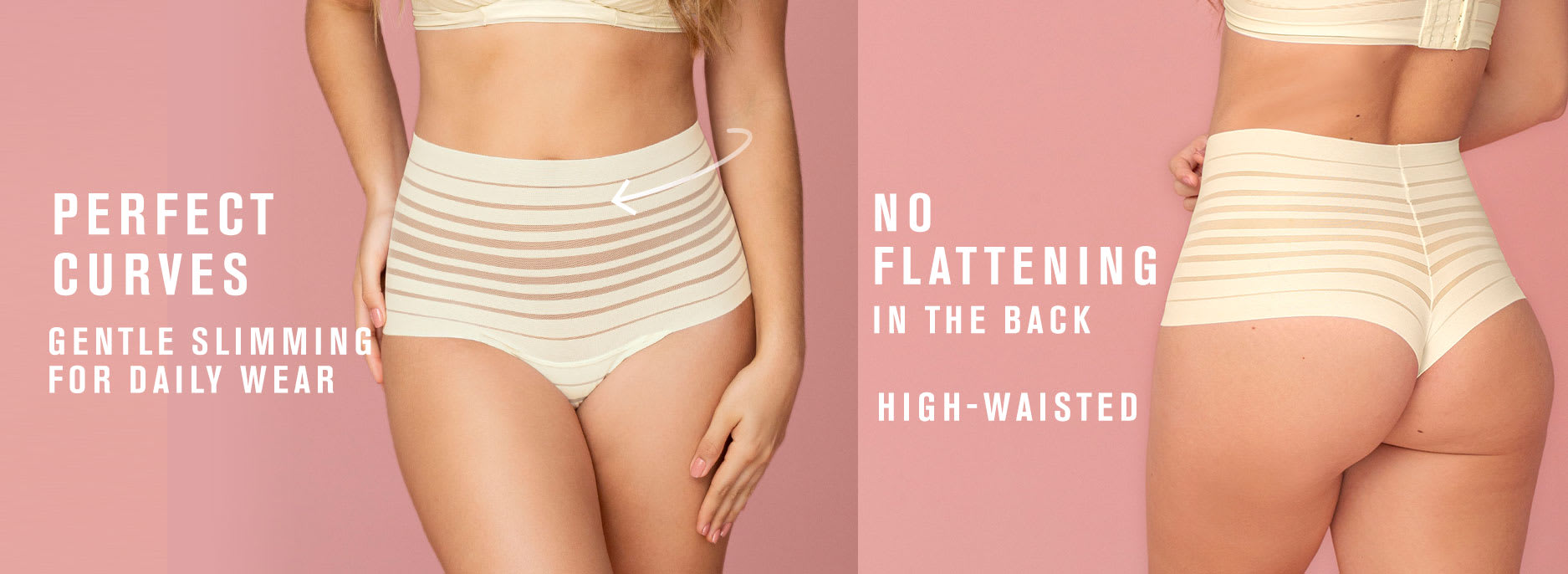 Lace Stripe High-Waisted Cheeky Hipster Knicker