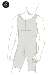 Leo Mens Post-Surgical and Slimming Firm Compression Bodysuit Shaper Leonisa 038000