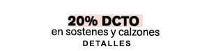 ▷ 20% DCTO  sostenes y calzones. Mira aquí