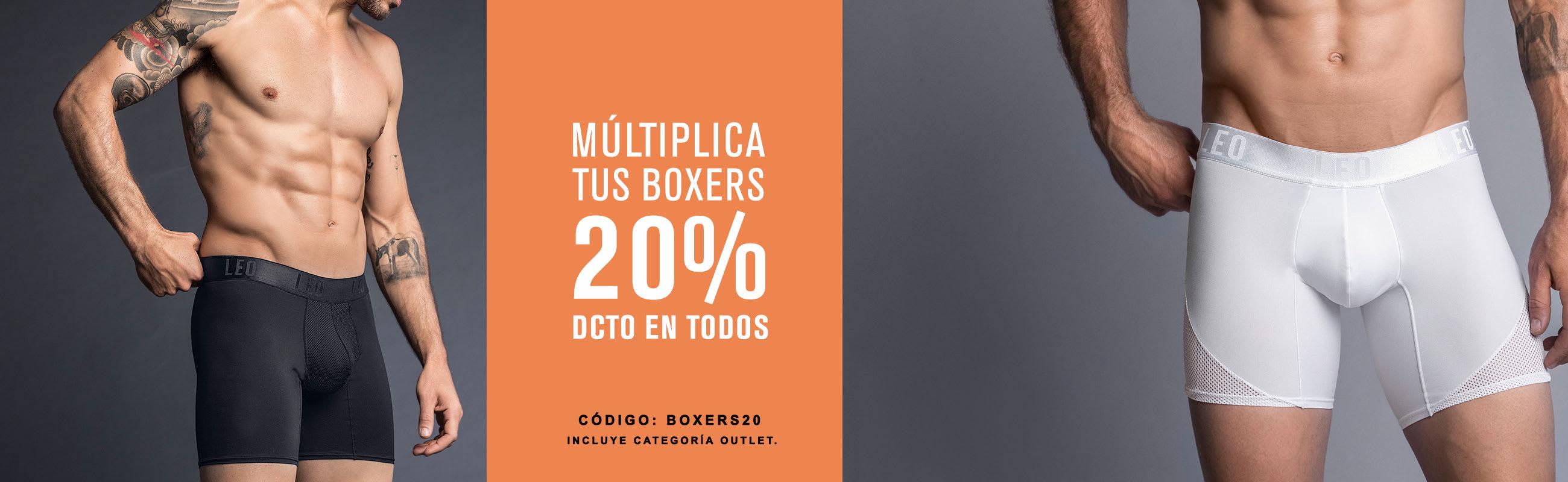 20% DCTO en Boxers