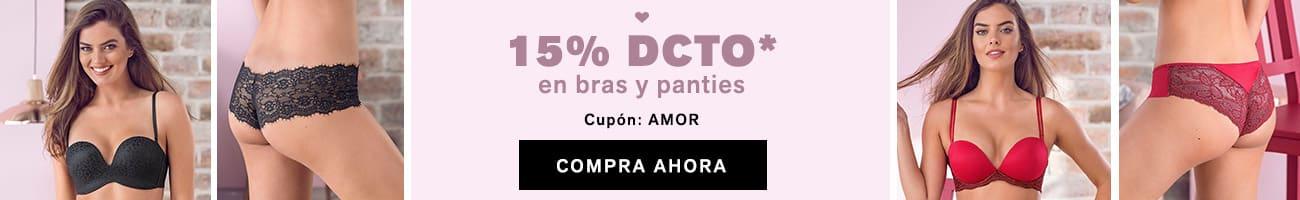 15% DCTO en bras y panties