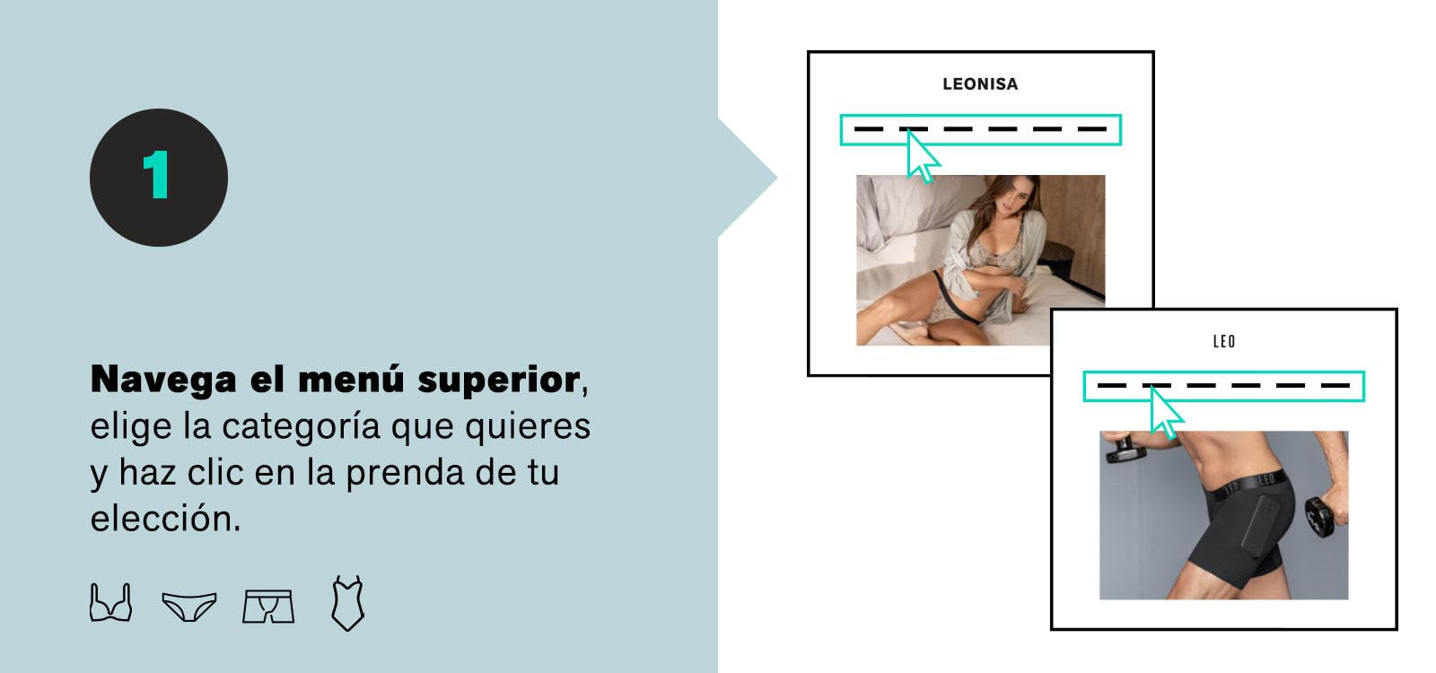 Cómo comprar online Paso 1 - Leonisa