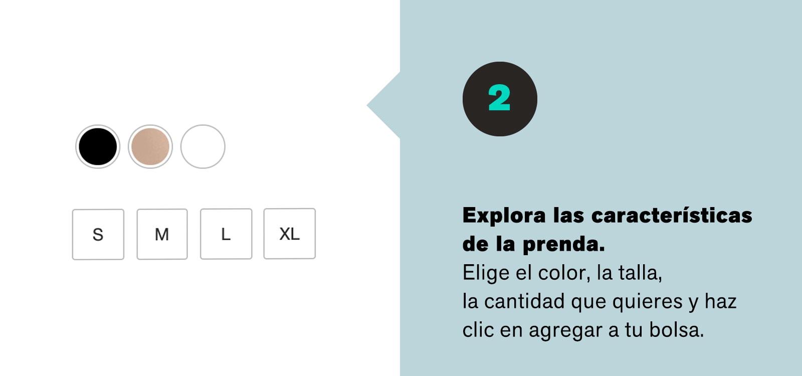 Cómo comprar online Paso 2 - Leonisa