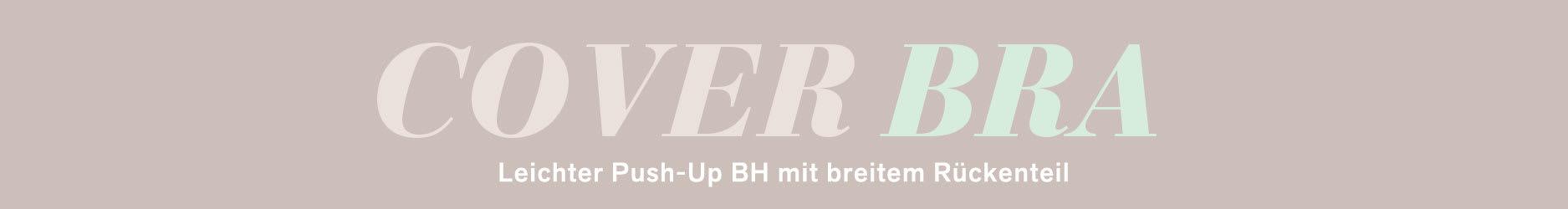 Leichter Push-Up BH mit breitem Rückenteil - Cover/Bra