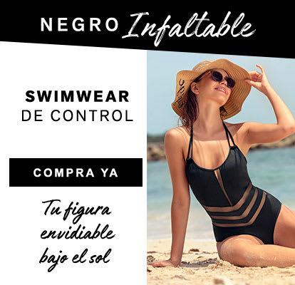 Swimwear de control en negro