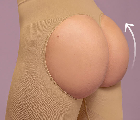 Invisible Open-Back Butt Lifter Shaper Short