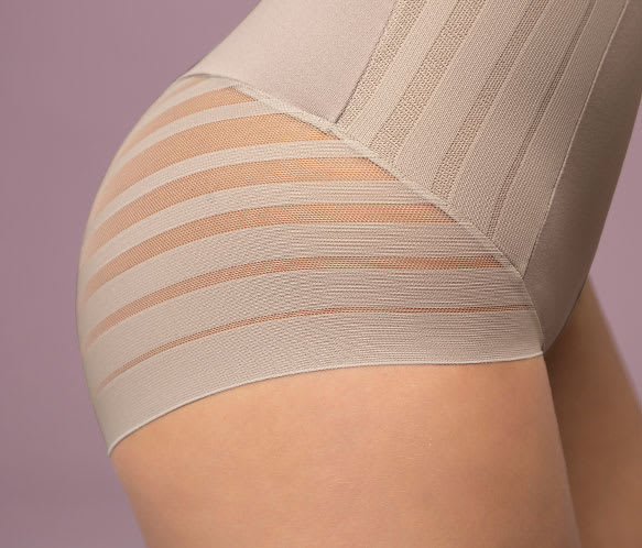 Lace Stripe Extra High-Waisted Sculpting Shaper Panty