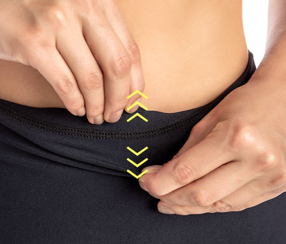 Leggings macht Bauch und Taille schlank