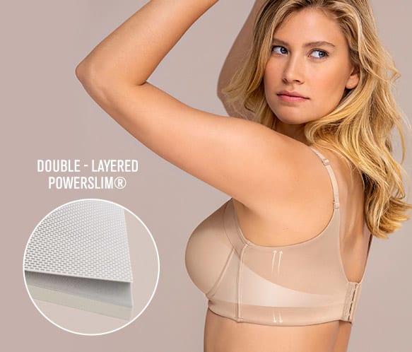 High coverage bra