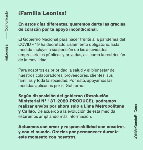 Comunicado --- Leonisa