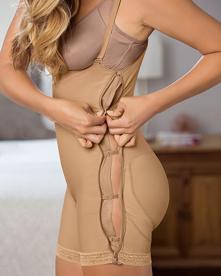 Double Take Open Bust Firm Compression Post-Surgical Body Shaper