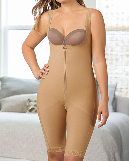 Sculpting Body and Thigh Shaper – Wide Straps