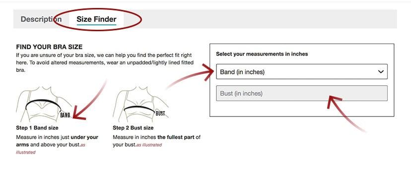 Find your bra size - Leonisa webstore