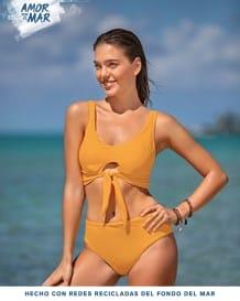 increible bikini con elastico de anudar al frente--MainImage