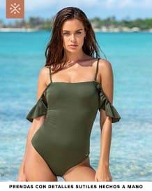 vestido de bano con boleros en hombros-610- Green-MainImage