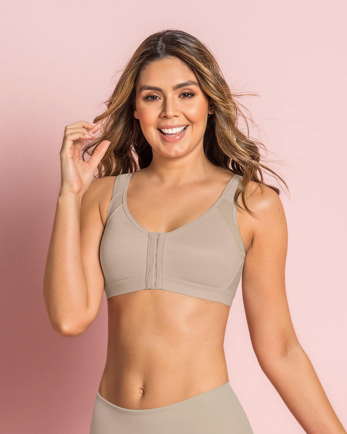 Doctor-Recommended Post-Surgical Wireless Bra with Front Closure