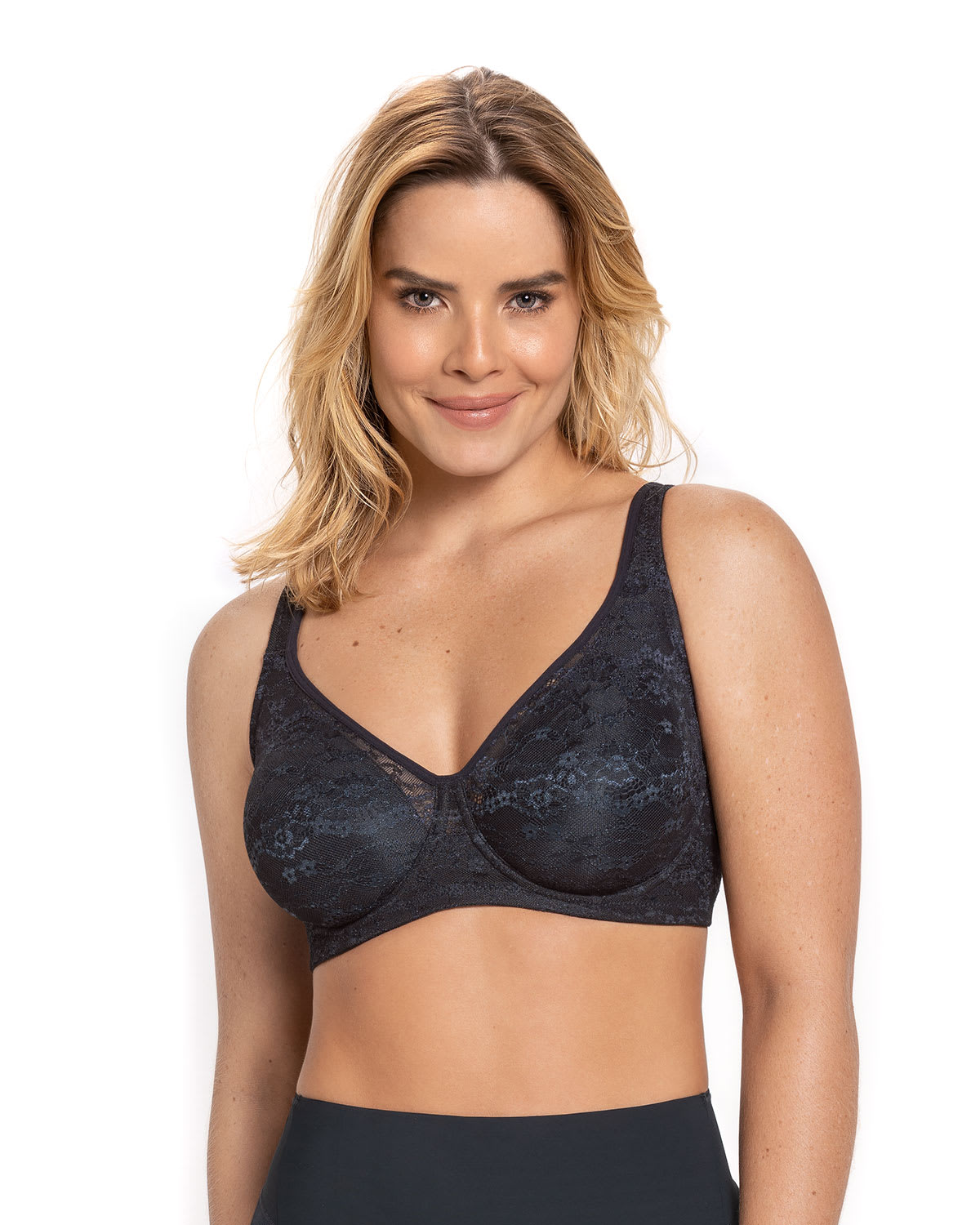 Underwire Lace Bra with Natural Support