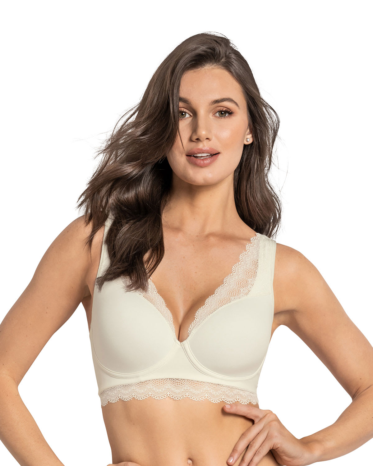 Soft Lightly-Lined Lace Underwire Bra: Deep Coverage Bra