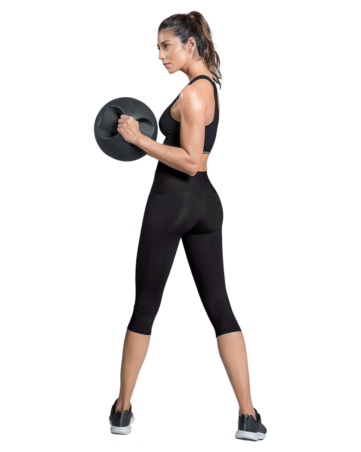 High-Waisted Moderate Compression Capri - ActiveLife
