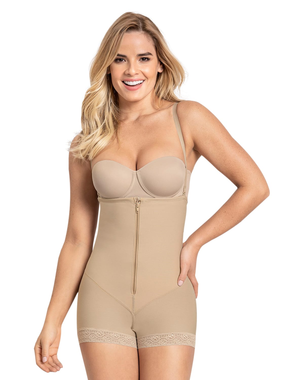 Strapless Power Tummy Trimmer Compression Shaper