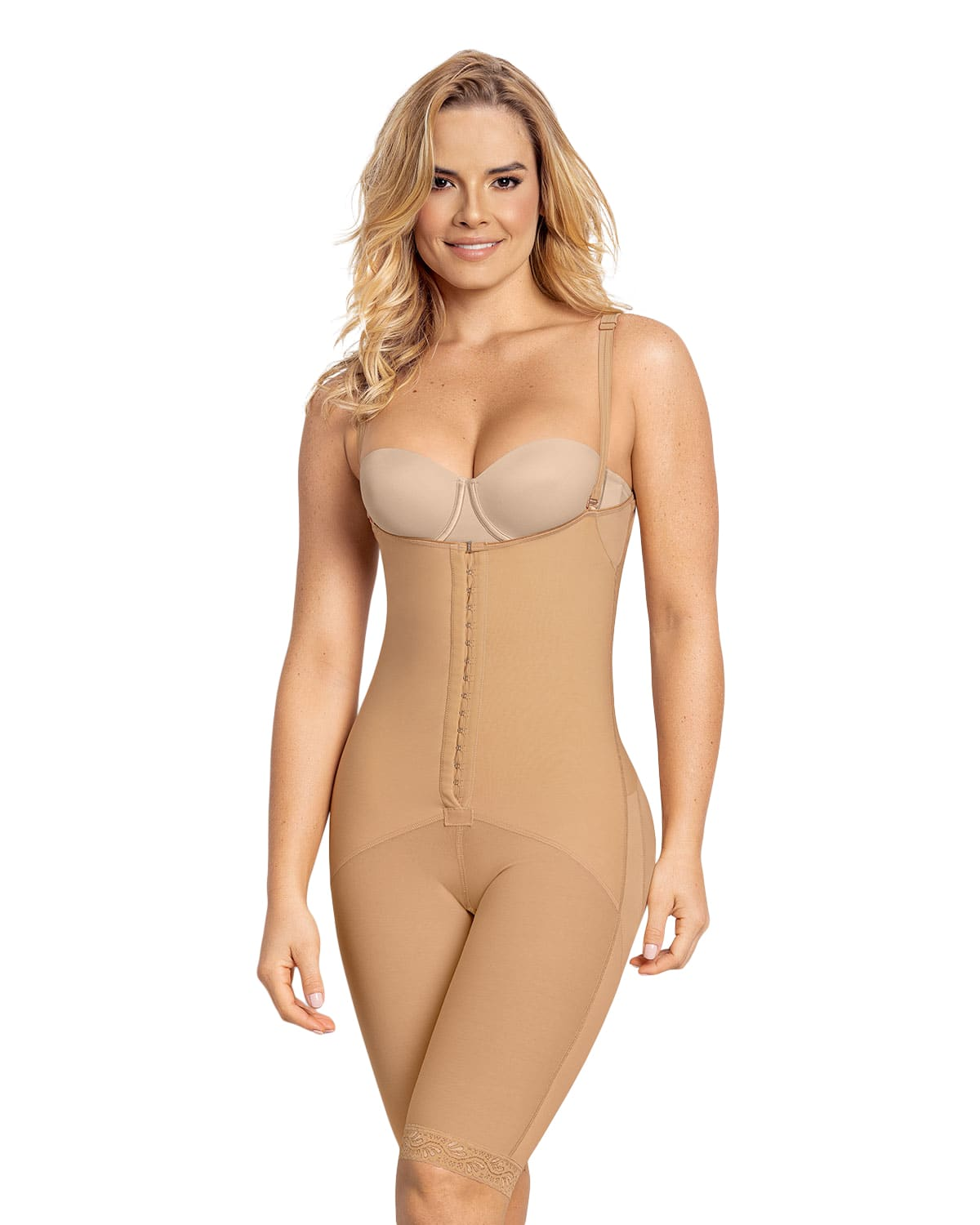 Latex Mid-Thigh Shaper with Booty Lift