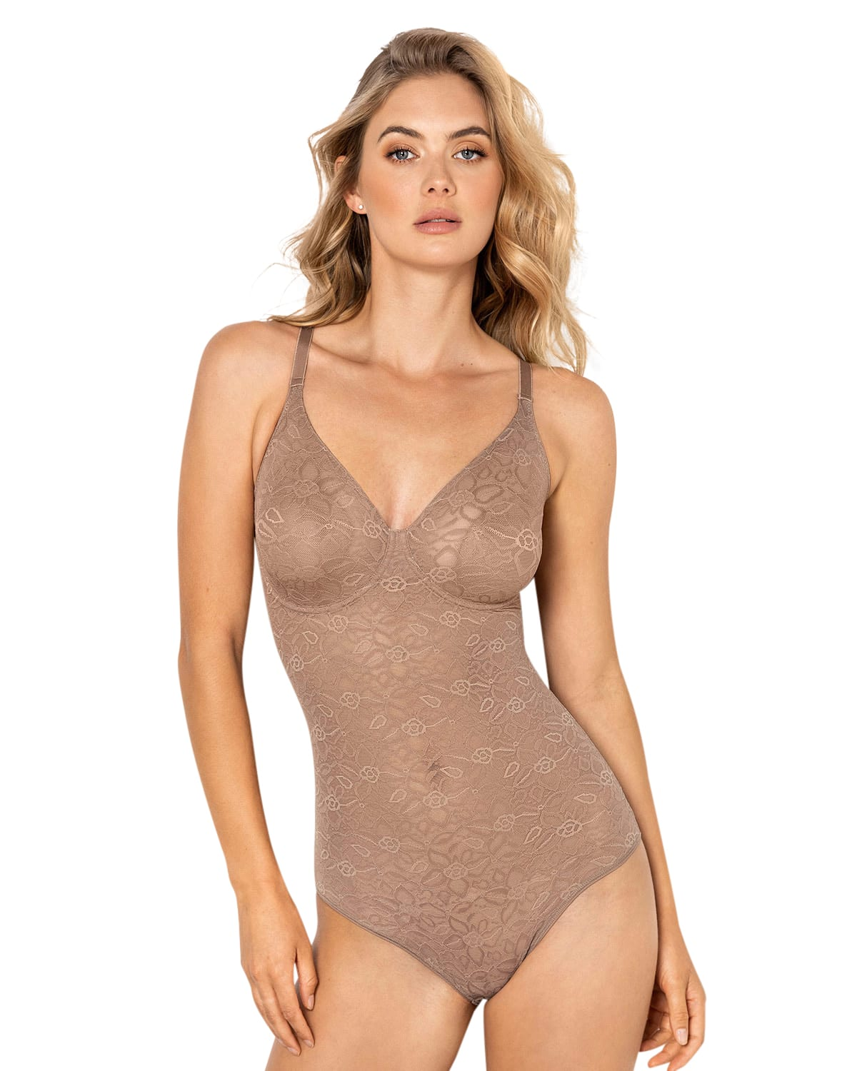 Underwire Smoothing Lace Bodysuit