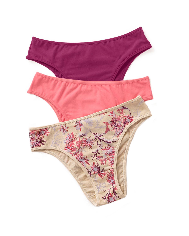 3-Pack Cotton Bikini Panty with Tummy Control