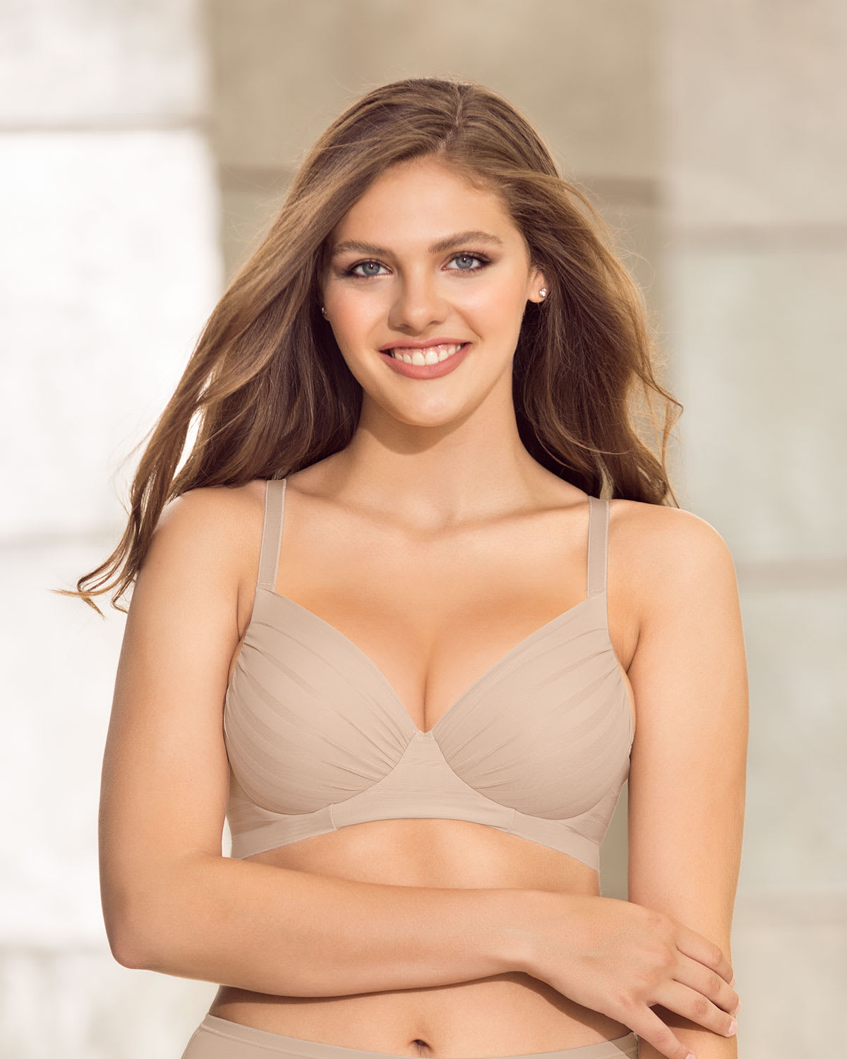 Retro Full Coverage Bra with Natural Push Up