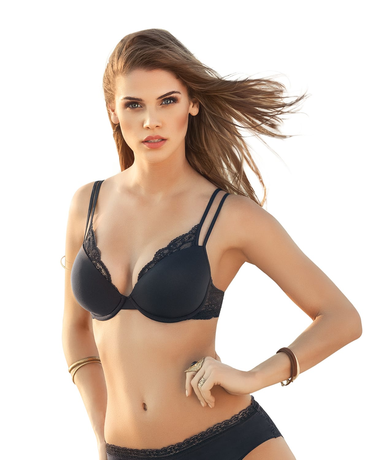 Strappy Lace Underwire T-Shirt Bra