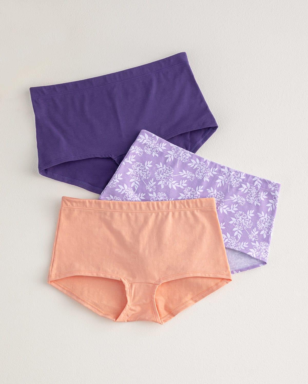 3-Pack Boyshort Comfy Panties in Cotton
