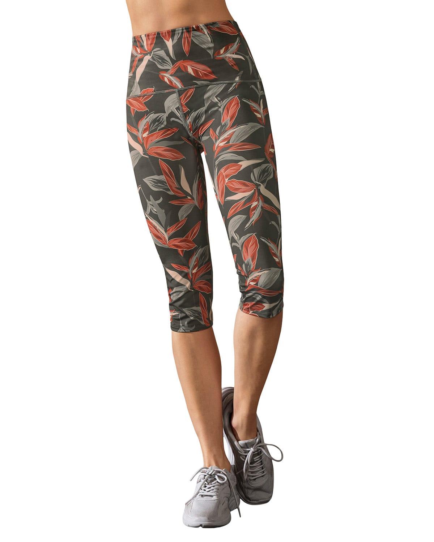 Eco-Friendly Leafy Graphic Slimming Legging