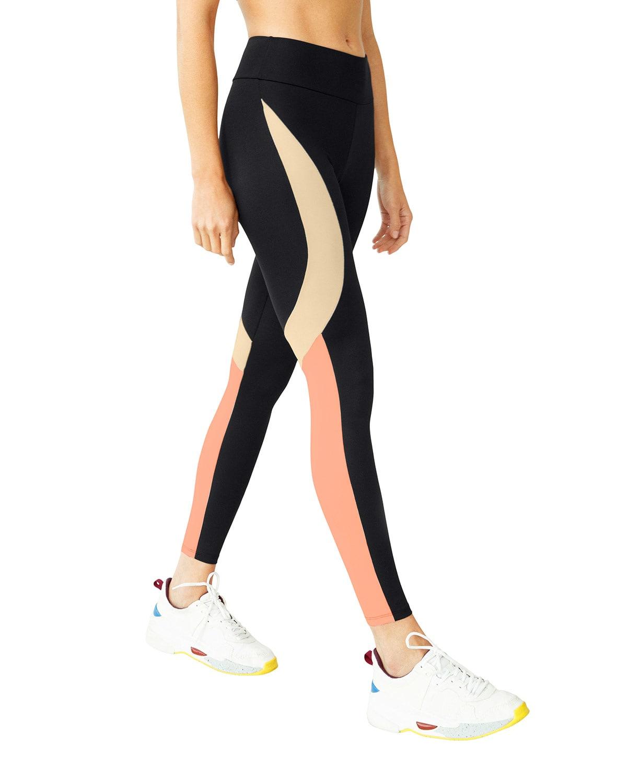 Mid-Rise Color Block Eco-Friendly Active Legging
