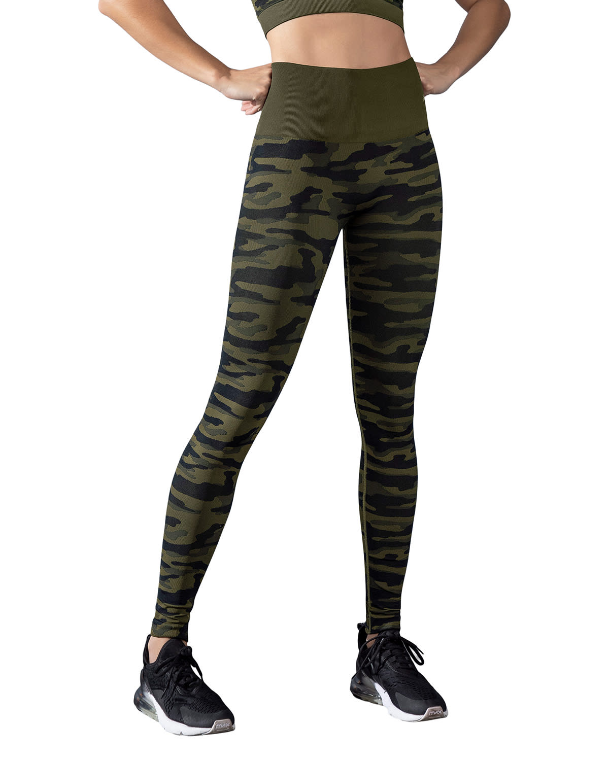 Smoothing High-Waisted Graphic Active Legging