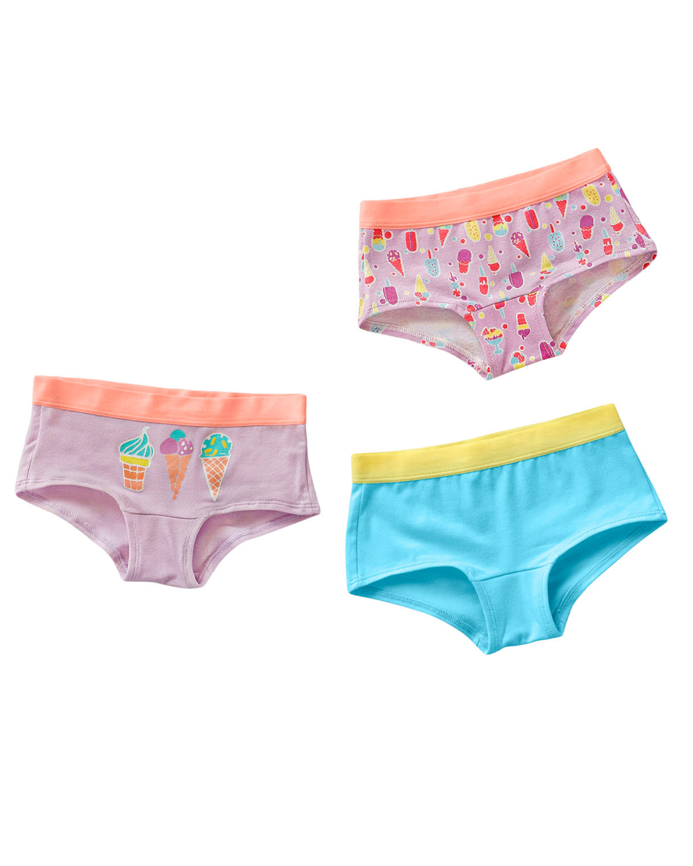 3-Pack Girl's Hiphugger Panties