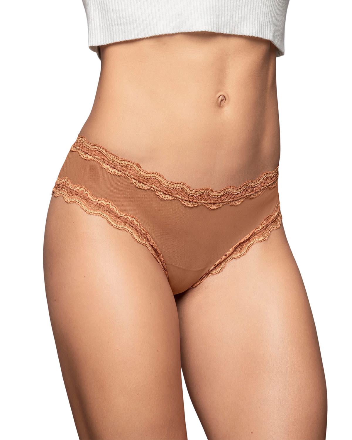Super Soft Cheeky Panty with Delicate Lace Trim