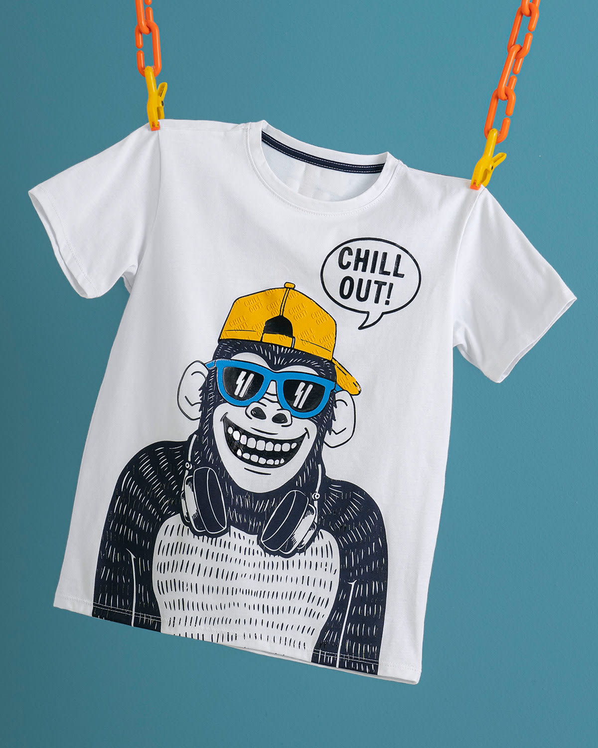 Kids Funky Graphic White Tee