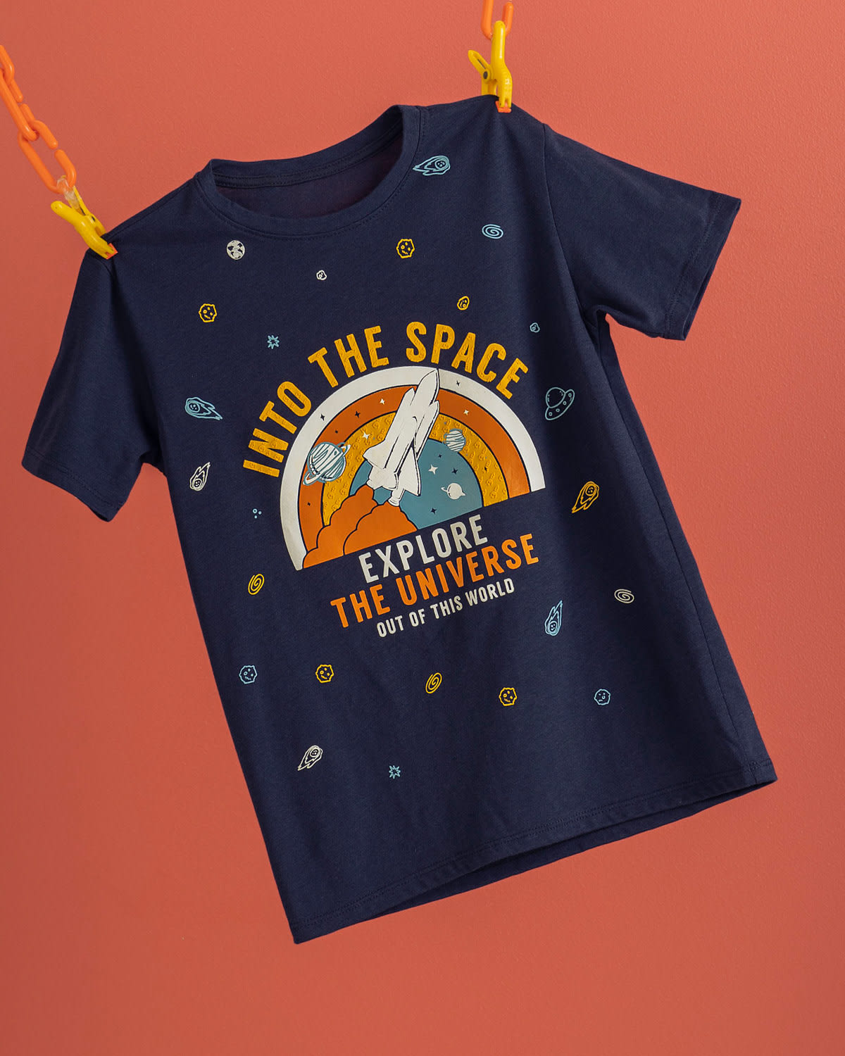 Kids Tee with High-Density Galactic Graphic
