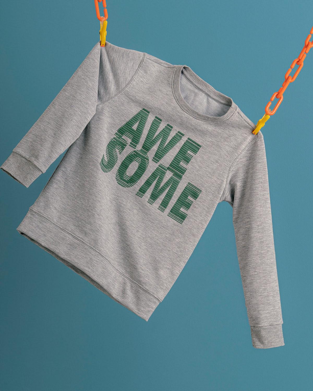 Kids' Crew Neck Sweatshirt with 3D Graphic