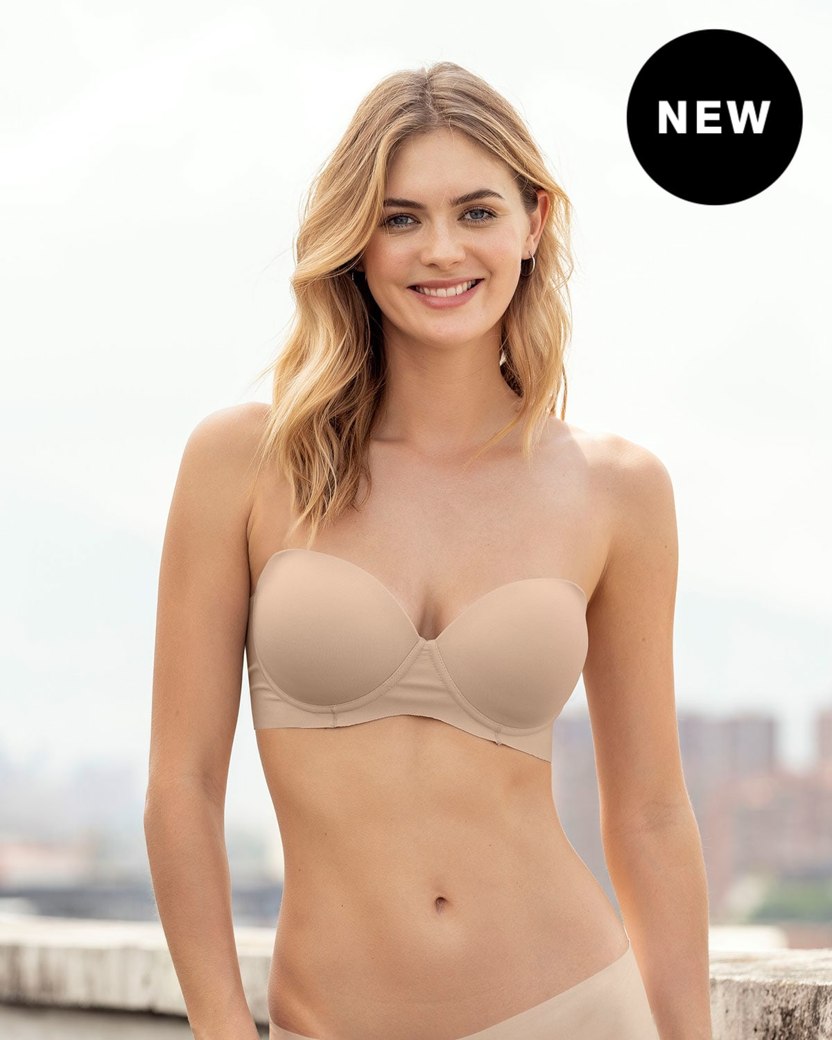 No-Slip Strapless Push Up Bra