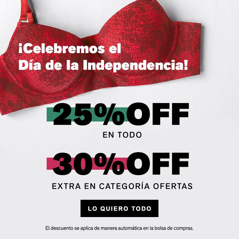 Día de la Independencia 30% OFF*