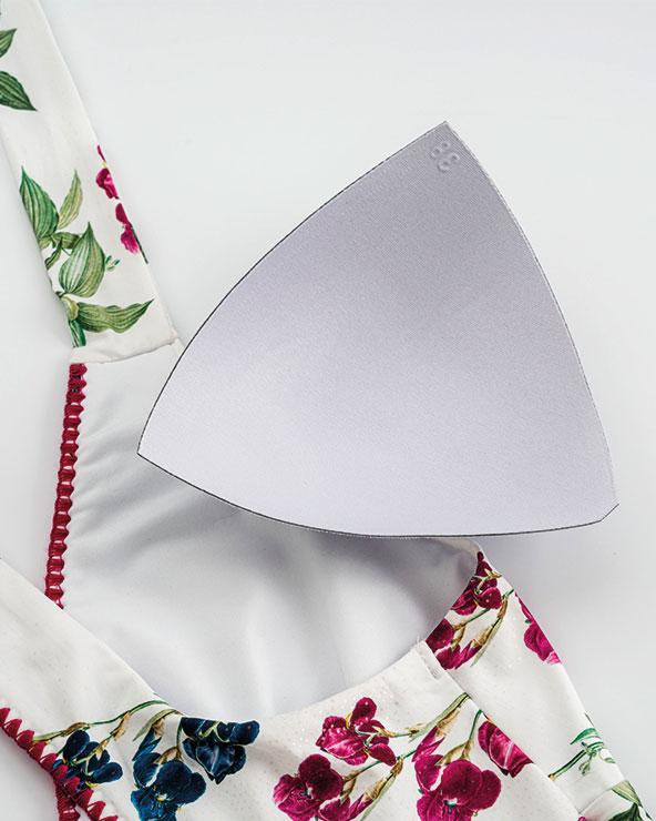 A. Removable contour padding