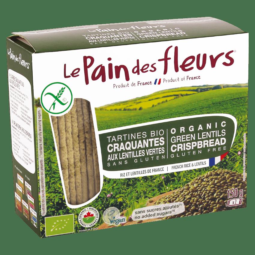 Organic Green Lentils Crispbread