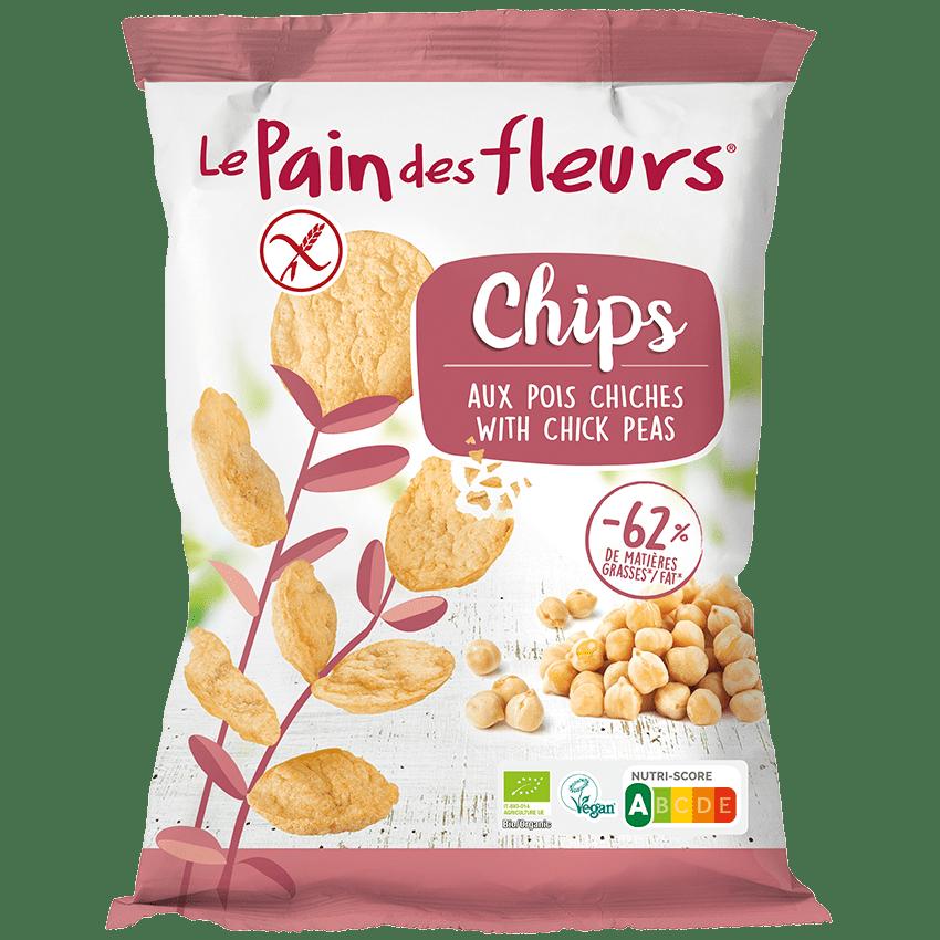 Bio-Chips mit Kichererbsen