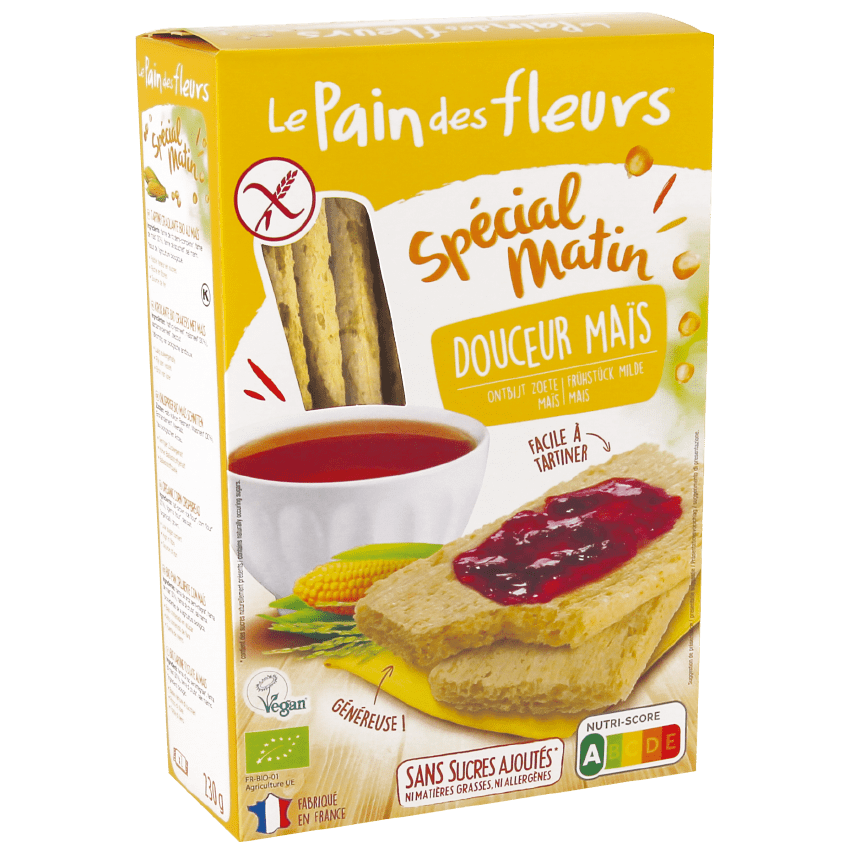 Tartines Spécial Matin Bio au Maïs