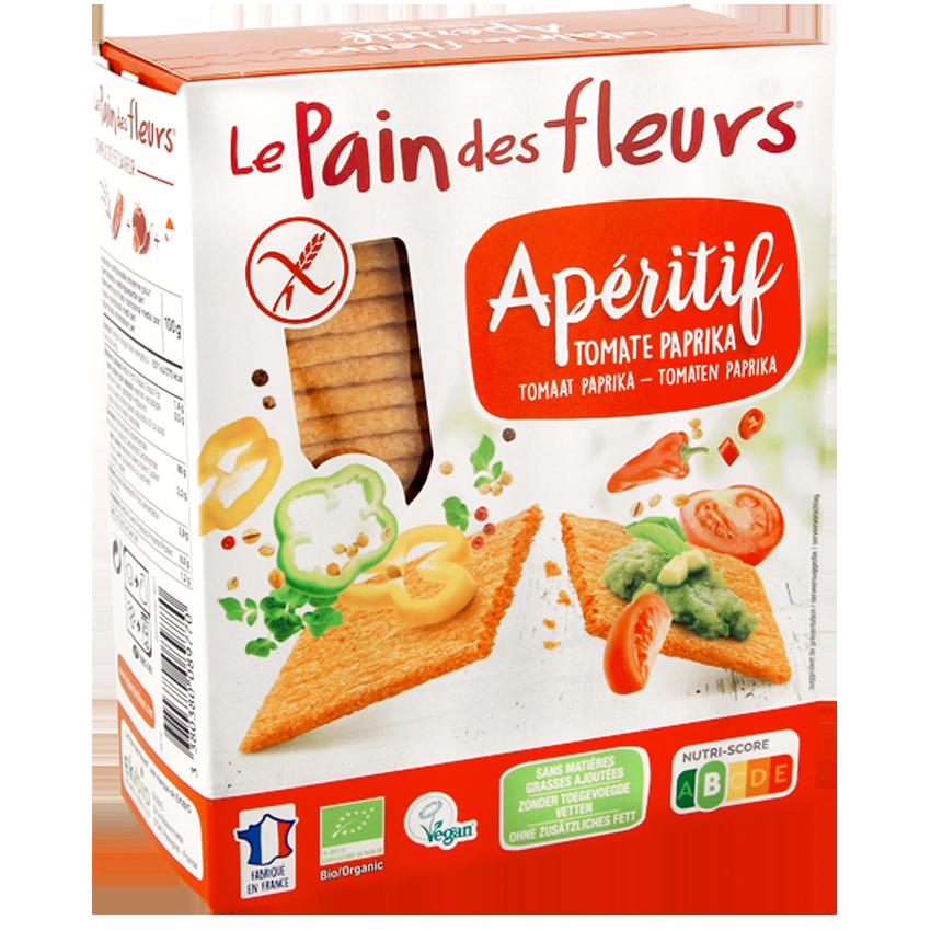 Krokante Bio Crackers Aperitief Tomaat Paprika